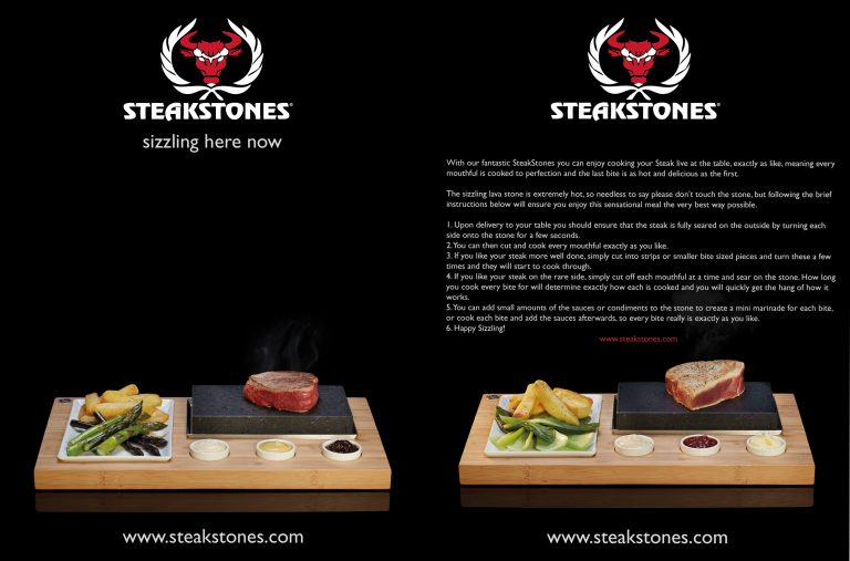 SteakStones Tent Card