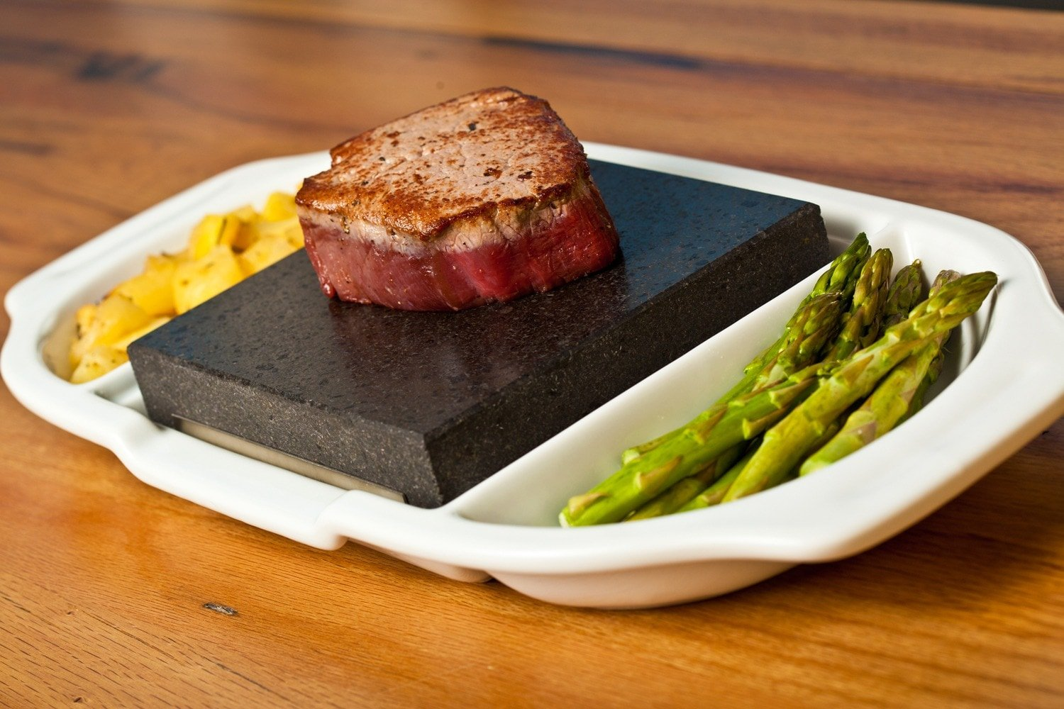 Fillet Steak on the SteakStones Ceramic Double Platter