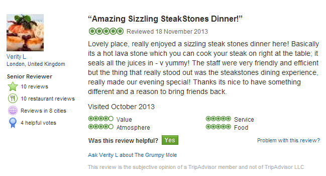 Grumpy Mole SteakStones Review