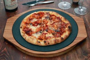 The SteakStones Pizza Stone. Enjoy Your Pizza. Always Crisp. Always Hot.
