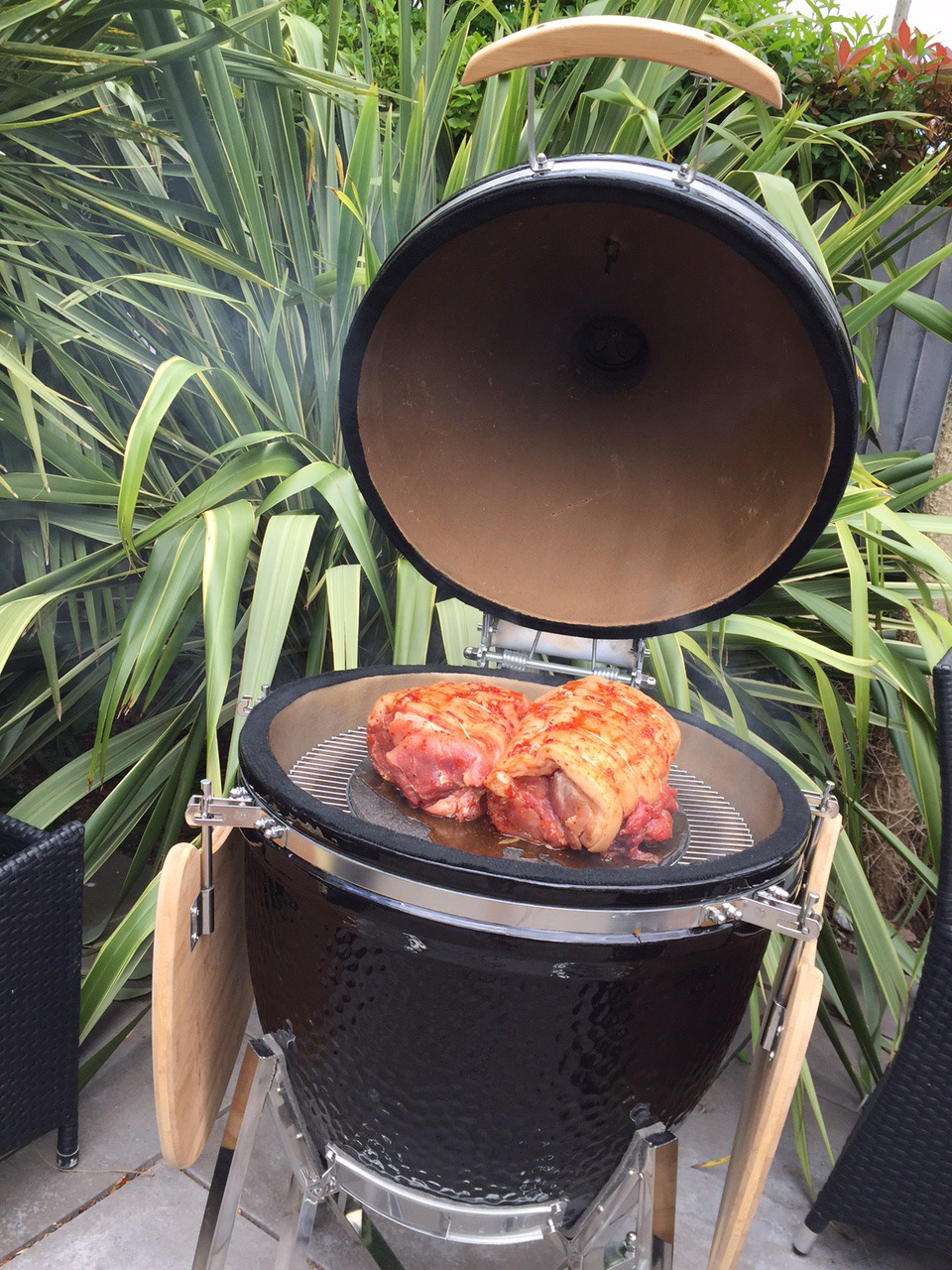 The SteakStones Kamado Smoker & Grill